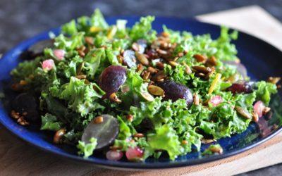Kale Salad with an Orange-Tahini Dressing