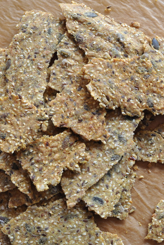 easy to make seed crackers