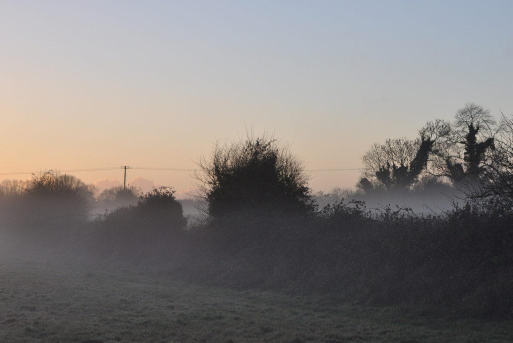 irish winter landscape