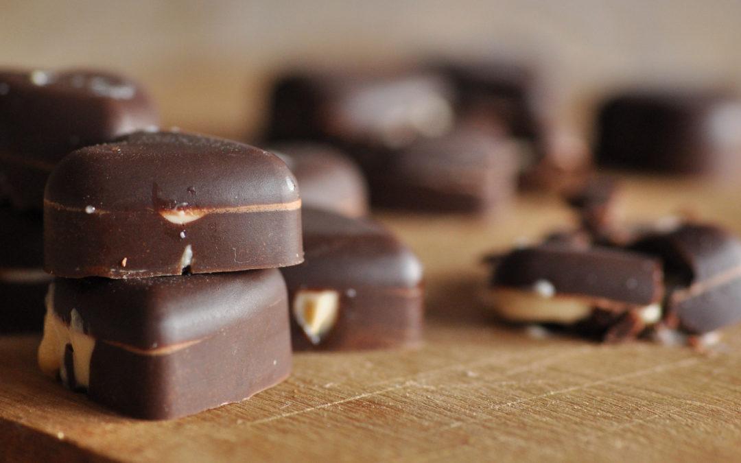 Tahini – Orange filled Raw Chocolate