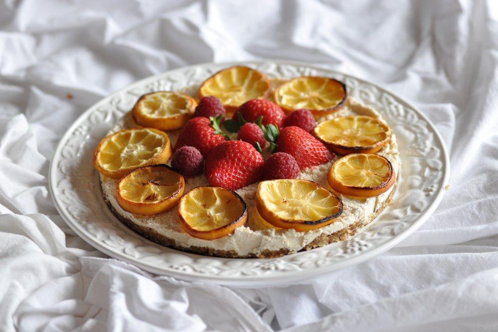raw lemon cheeese cake