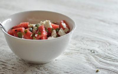 Watermelon & Feta Salad with Mint