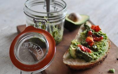 Avocado Toast with Coriander Pesto + 10 min Lunch Ideas