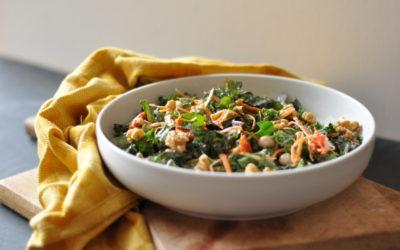 Kale Salad with a Garlic-Tahini Dressing
