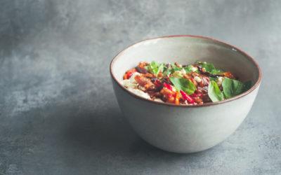 Summer Salad with Whole Spelt Grains & Slow Roasted Veg