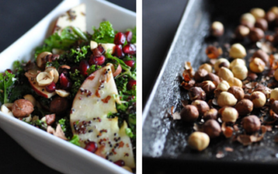 Black Quinoa Salad with Kale – Topped with Crunchy Apples & Toasted Hazelnuts